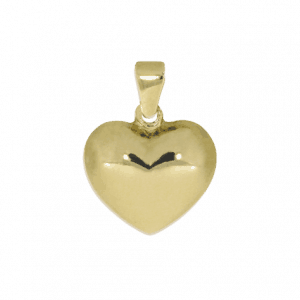 54903 - Herz, bauchig, in 14 Karat Gelbgold, Mutter und Tochter, groß, leicht