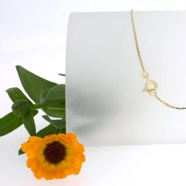 Venezianerkette, Gelbgold, 585, 14 Karat, Kinderkette, Taufkette, Halskette