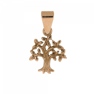 57940 - Lebensbaum, frei stehend, in Roségold, Rotgold, 14 Karat, Baum des Lebens, Taufanhänger, Talisman, Amulett