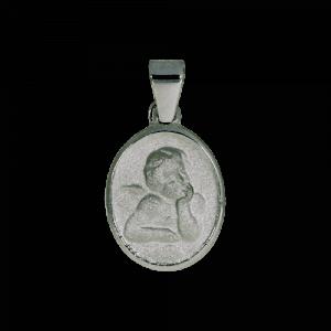 55477 - Schutzengel, oval, 925, Sterlingsilber, Taufanhänger, Engel, Silber